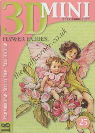 Flower Fairies 18 Designs Mini 3D Decoupage Book
